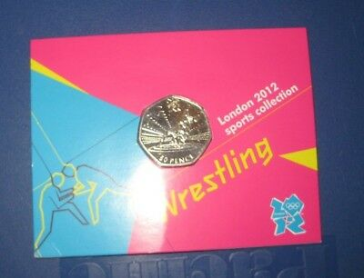 London 2012 Sports Collection 50 Pence - Wrestling
