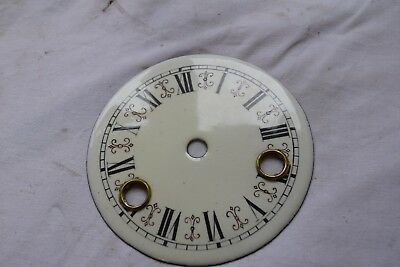 antique clock enamel dial