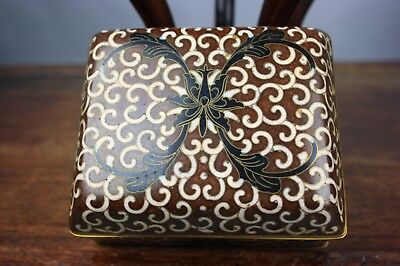 18th/19th C. Chinese Cloisonné Rectangular Box And Fitted Cover