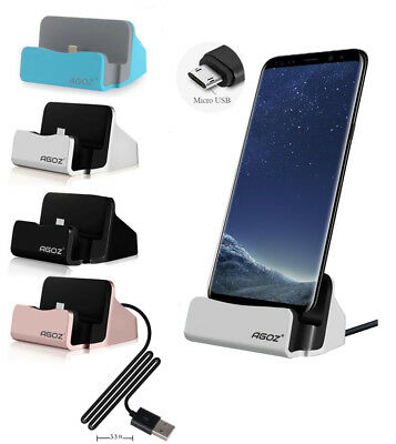 Phone Dock Station Micro USB Charger Holder Stand Supports FAST Charging for ZTE