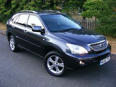 WOW!! A GREAT LOOKING 2008 58 LEXUS RX400h SE 4x4 HYBRID AUTO GREY~BLACK LEATHER