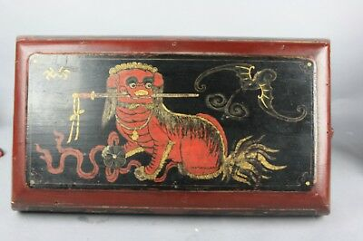 19th/20th Chinese Hand Painted Qing Shanxi Style Snack Box