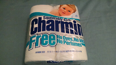 "Vintage New Old Stock Blue Charmin Toilet Paper Tissue ""Squeezably Soft"""