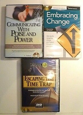 NEW 3 Skillpath Audio CDs for Business Professionals-Communication, Time, Change