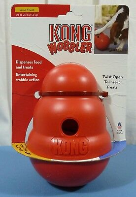 KONG Wobbler Treat Dispensing Dog Toy Size Small