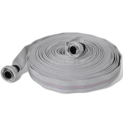 Fire Hose Flat Hose 20 m with D-Storz Couplings 1 Inch H8Y2
