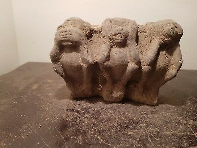 Rare Antique Ancient Egyptian Statue 3 Baboons secrete keepers no see1760-1640BC