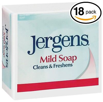 (PACK OF 18 BARS) Jergens ORIGINAL MILD Bar Soap. LUXURIOUS LATHER  3.0 Oz Each