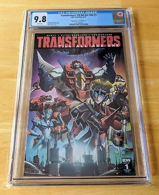 Transformers Till All Are One #1 Rare Variant IDW CGC 9.8 Milne Variant RI-B