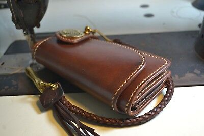 Handmade Genuine Leather Biker Men's Long Wallet Vintage Heavy Thick