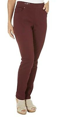 Gloria Vanderbilt Women's Avery Pull-On Stretch Jean, Red, Size 12, NWT