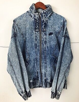 wholesale dealer 3b882 2fd70 80s Vintage Nike Challenge Court Andre Agassi Acid Wash Denim Jean Jacket L