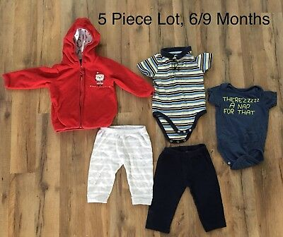 04367e4808d1 LOT OF 5 Baby Boys Size 6-9 Month Clothes Carter s Disney Jumping ...
