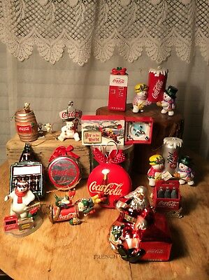 Lot Of 13 Coca-Cola Coke Christmas Ornament Assortments Tree Decor Collectors