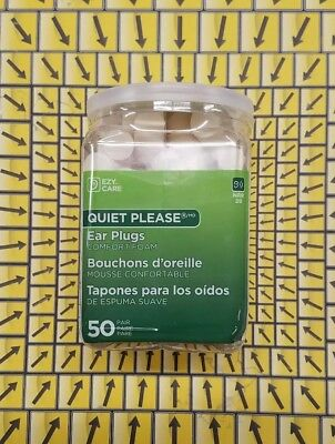 Flents Quiet Please Foam Ear Plugs (50 Pair) Maximum Hearing Protection 29dB