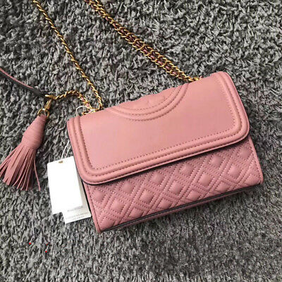 45323112a64f TORY BURCH Fleming SMALL and LARGE For Woman Convertible Shoulder Bag Shell  Pink