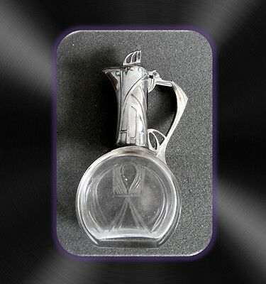WMF art nouveau small lidded decanter with crystal base  - FREE SHIPPING