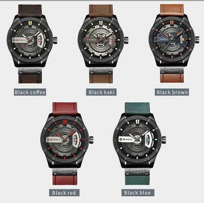 d40fd399d7f CURREN Mens Quartz Watches Leather Wristwatches Casual Sports Watch 5 Colors