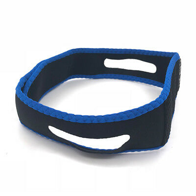 Blue Snore Stop Belt Anti Snoring Cpap Chin Strap Sleep Apnea Jaw Solution