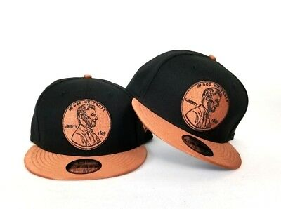 new product 13d1e 627c0 New Era 1 Cent Penny snapback hat Nike Foamposite Metallic Copper Foam