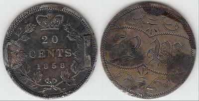 Just Reduced! 1858 Canada 20C Love Token