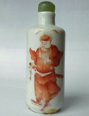 Chinese ZHONG KUI (鍾馗)PORCELAIN snuff bottle 19th - Qing Dynasty清代