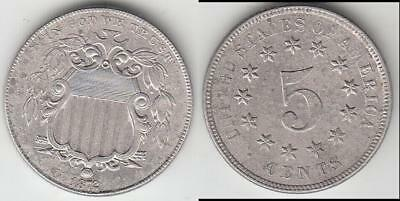 Reduced Again!! Better Date 1872 Shield Nickel Au Details