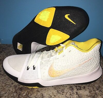 low priced 35b02 0832f NEW NIKE KYRIE 3 III N7 SIZE 13 White Yellow Black DS 899355 ...