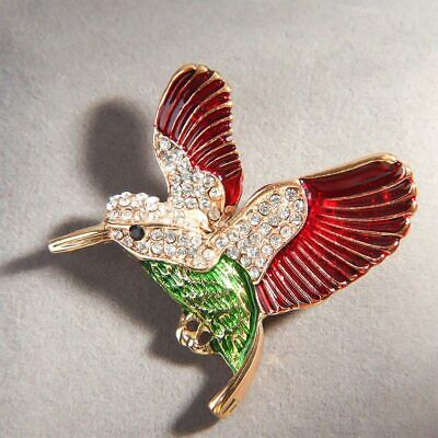 Popular Rhinestone Bird Animal Enamel Brooch Alloy Pin Women Fashion Jewelry