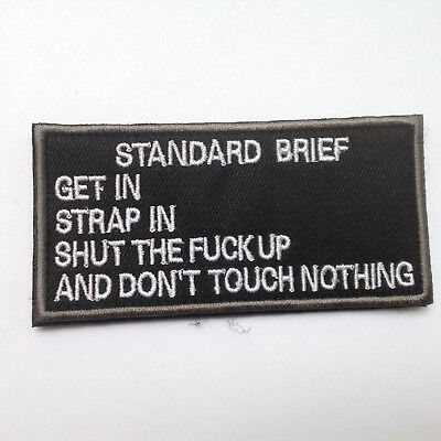 Standard Brief Army Morale Milspec Tactical Military Badge Patch