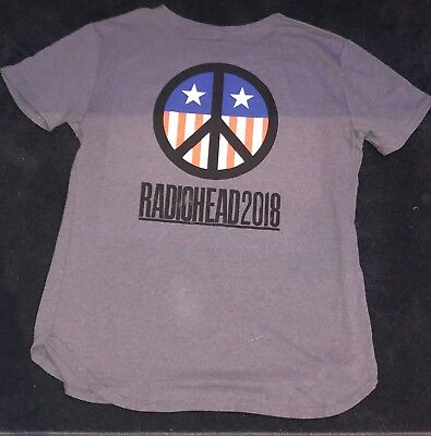 RADIOHEAD 2018 OFFICIAL TOUR CONCERT T-SHIRT NORTH AMERICA EXTRA LARGE XL BAND