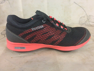 cf444fa76a3 Reebok Easy Tone Fitness Athletic Toning Shoes Womens SIZE-7 Black red pink