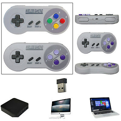 Wireless Gaming Controller Gamepad for Super Nintendo SNES Classic Mini Console