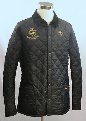 BARBOUR Men's Heritage Liddesdale Quilted Jacket BREEDER'S CUP Size XL NWT Black