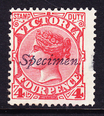 L48 6d Red Stamp Duty overprinted SPECIMEN Thinned RHS