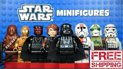 Lego Star Wars Minifigures Jedi Darth Vader Yoda Kylo Ren Sith Clone Blocks
