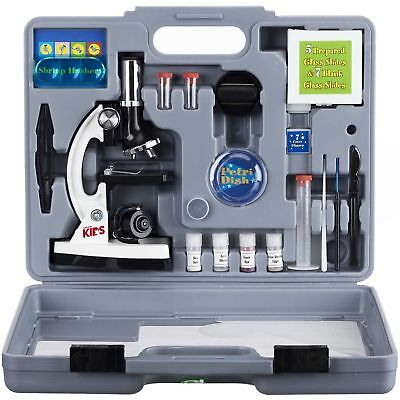 AMSCOPE-KIDS-120X-to-1200X-Six-Power-Metal-Arm-Starter-Biological-Microscope-Kit