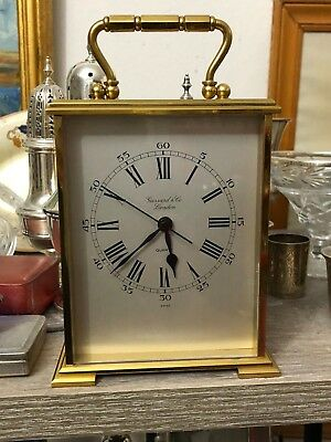 Garrard & Co Quartz Carriage Clock.