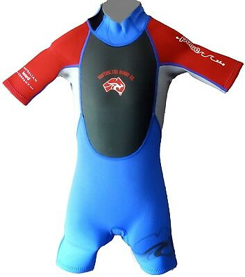 Age 1 YR BLUE CHILDS SHORTY WET SUIT BOYS GIRLS CHILDRENS KIDS SHORTIE WETSUIT
