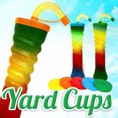 Twist Yard Cups Slush MIX Colours 500ml 17oz [1 Box 155pcs] Novelty CUPS HT2