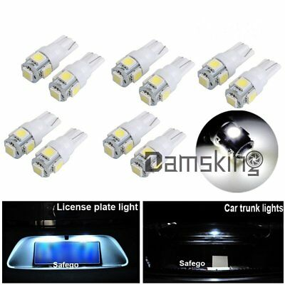 10x Weiß T10 194 168 5SMD 5050 LED Auto Leselampe Innenraumbeleuchtung