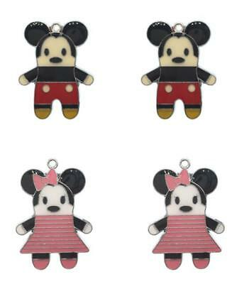 Lot 28mm dancing minnie Metal Charms DIY Jewelry Making Pendants gifts MM04