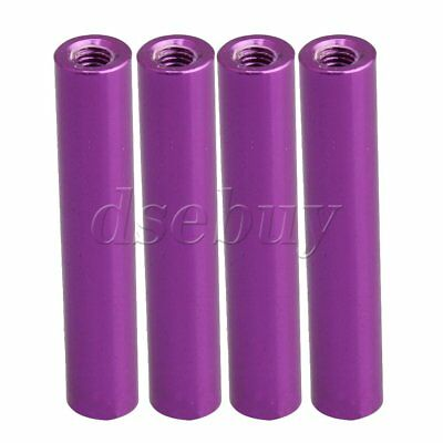 4PCS 6x32.3mm Alminum Alloy RC1/10 Model Car M3 Aluminum Columns Purple Color
