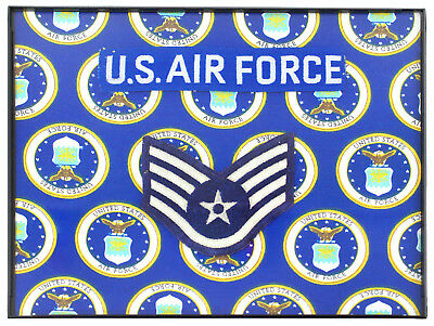 United States Air Force Staff Sergeant, USAF SSgt Framed Memorial, Handmade