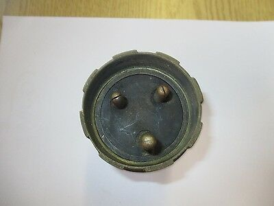 Vintage Walsall 15Amp Round Pin Cast Metal Plug C/W Cable Gland  Used  In Perfec