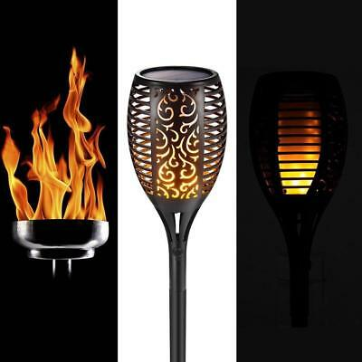 Solar Path Torch Light LED Dancing Flame Lighting Flickering Lamp Garden Decor