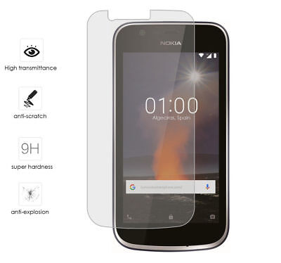 100% Genuine Tempered Glass Screen Protector Guard For Nokia 1 2018