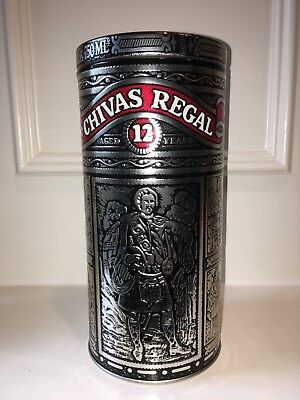 Chivas Regal Aged 12 Years - 750 ML Metal Embossed Cylinder Container Only
