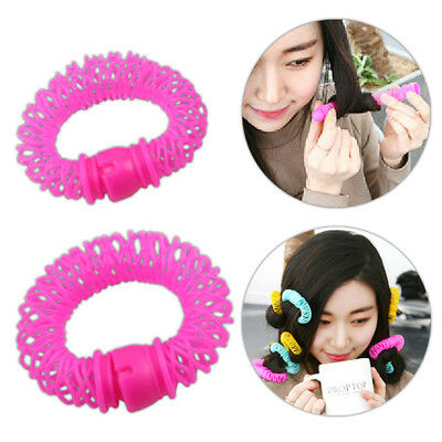 8Pcs Hairdress Magic Bendy Hair Styling Roller Curler Spiral Curls DIY Tools FB