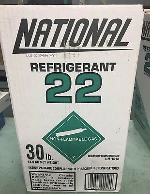 Sale!! National R22 Refrigerant Full 30 Lb. Sealed Made In Usa , Fast Shipping